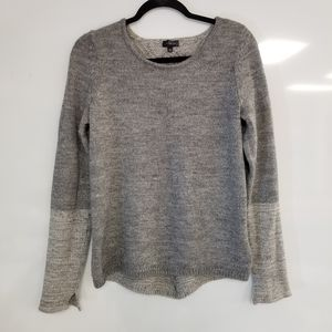 THE LIMITED Two tone Gray Sweater w/ Back Detail